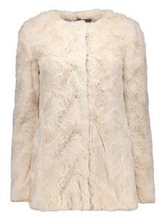 vmcurl long fake fur jacket lcs 10161534 vero moda jas oatmeal