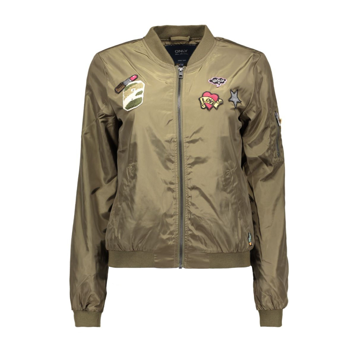 onllinea badge nylon bomber 15129315 only jas tarmac/badges