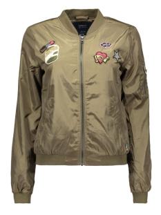 Only Jas onlLINEA BADGE NYLON BOMBER 15129315 Tarmac/Badges