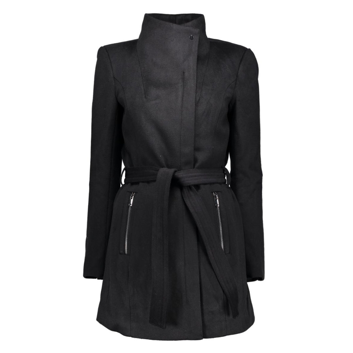 vmcall rich 3/4 wool jacket a 10159247 vero moda jas black