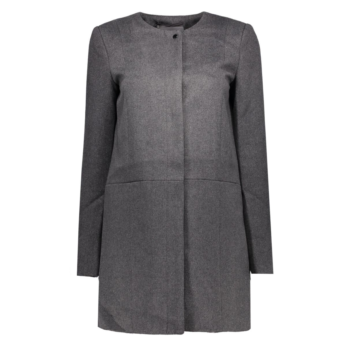 vmanke rich 3/4 wool jacket a 10159255 vero moda jas dark grey melange