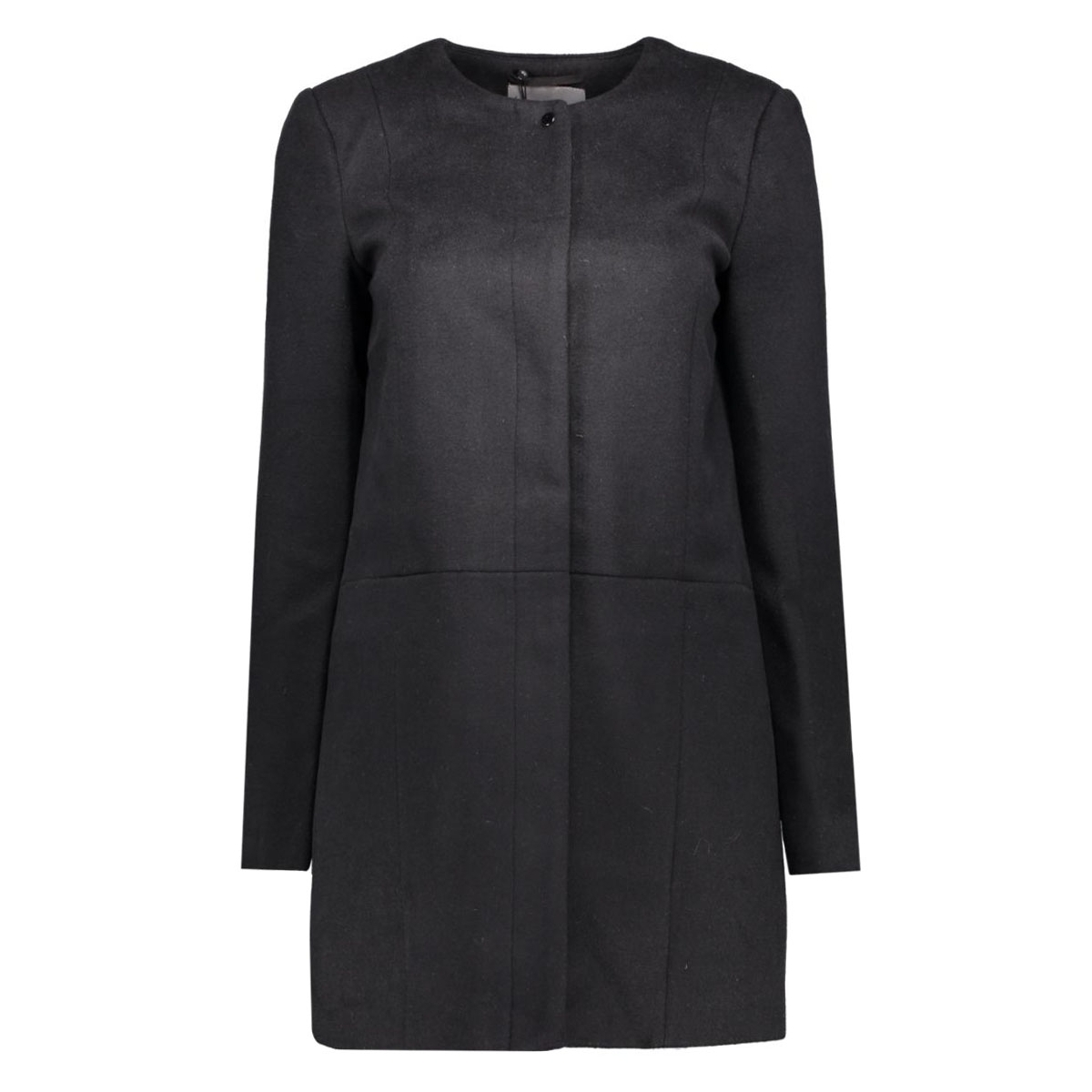 vmanke rich 3/4 wool jacket a 10159255 vero moda jas black