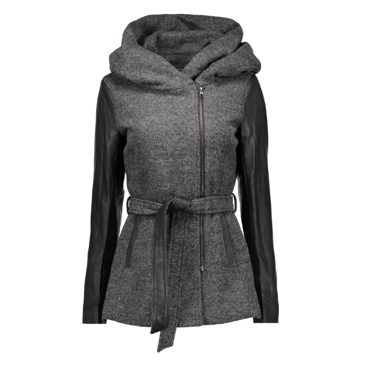 onllisford  wool coat cc otw 15118824 only jas dark grey melange