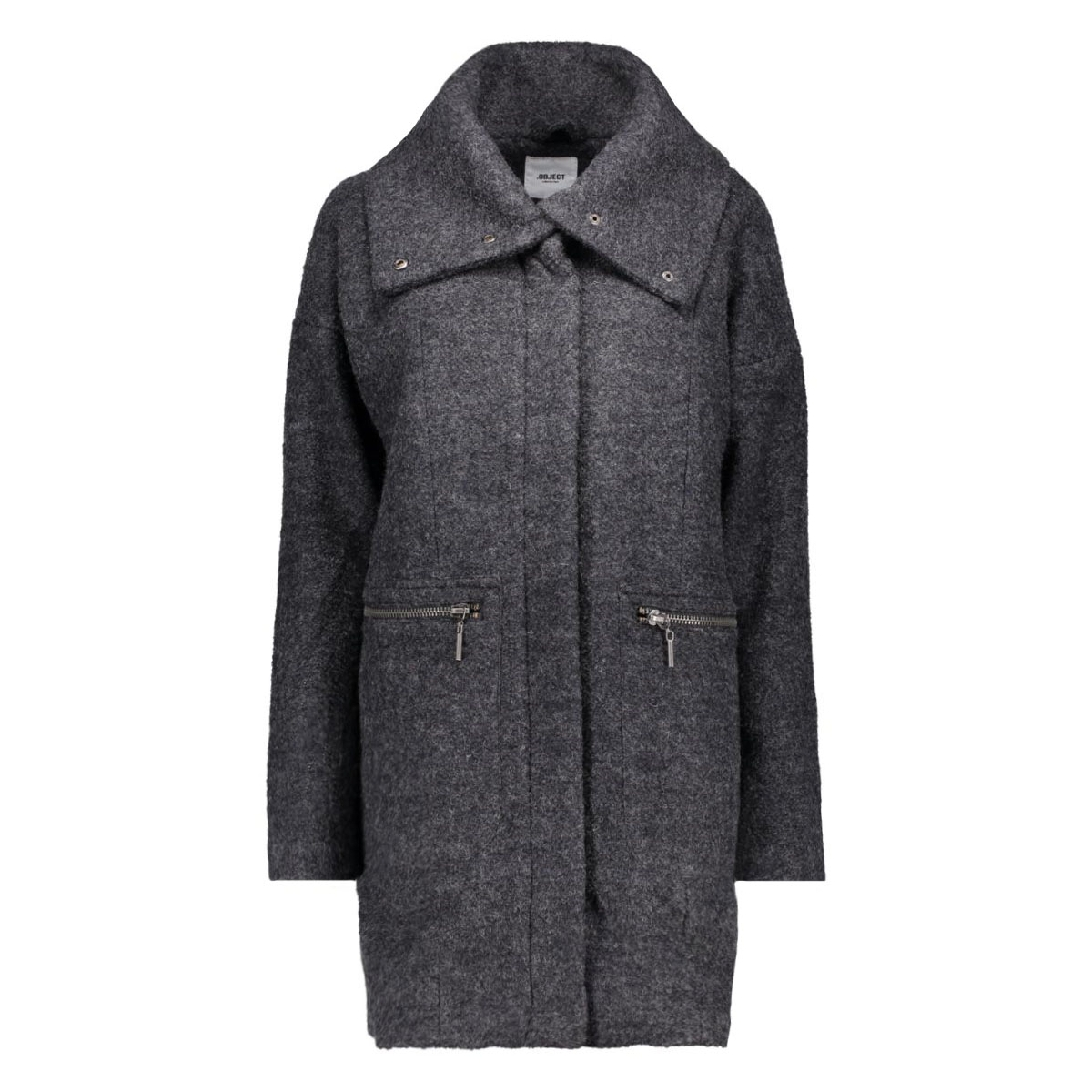 objraven maris coat 23022686 object jas dark grey melange