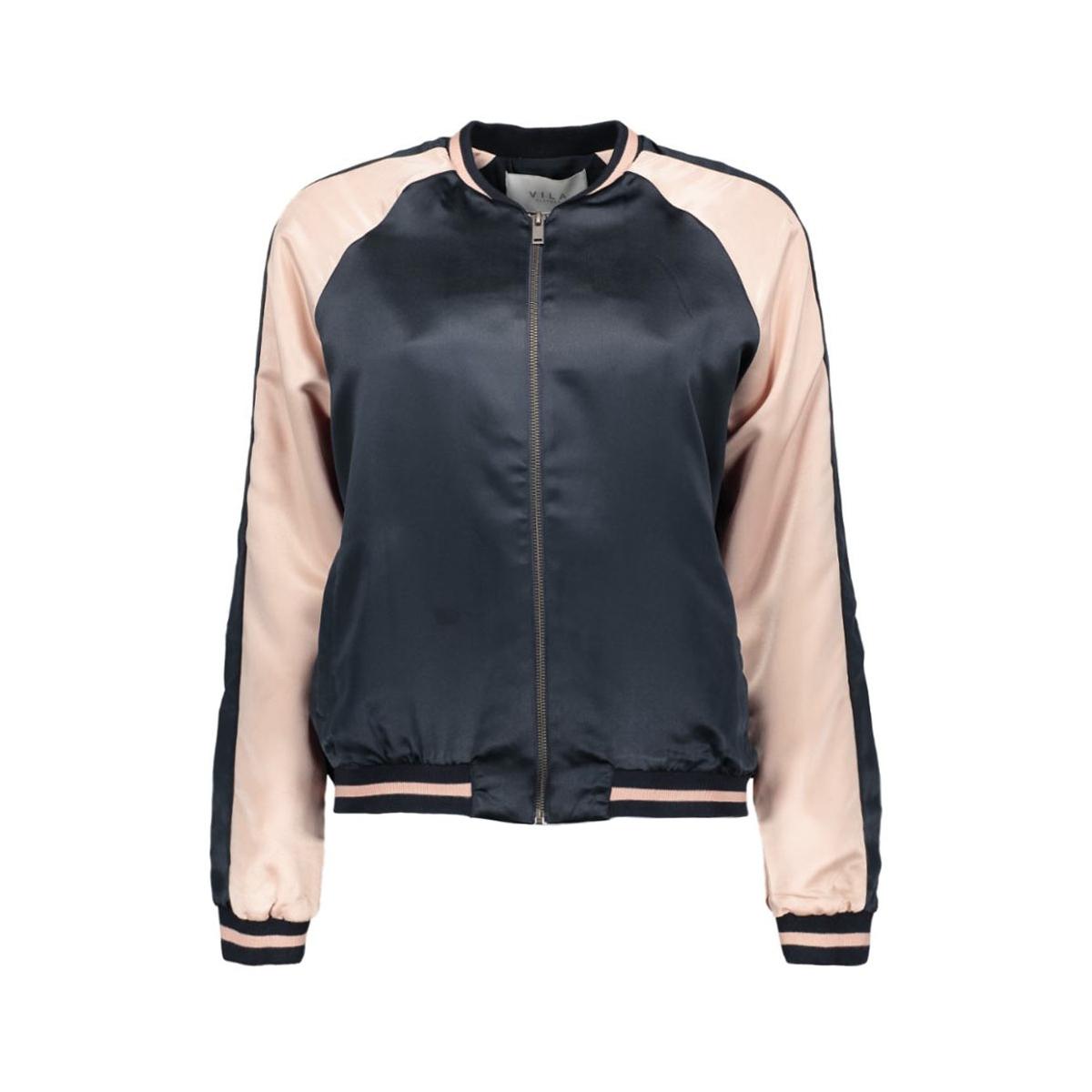 viadobe new bomber jacket 14040198 vila jas total eclipse/rose dust