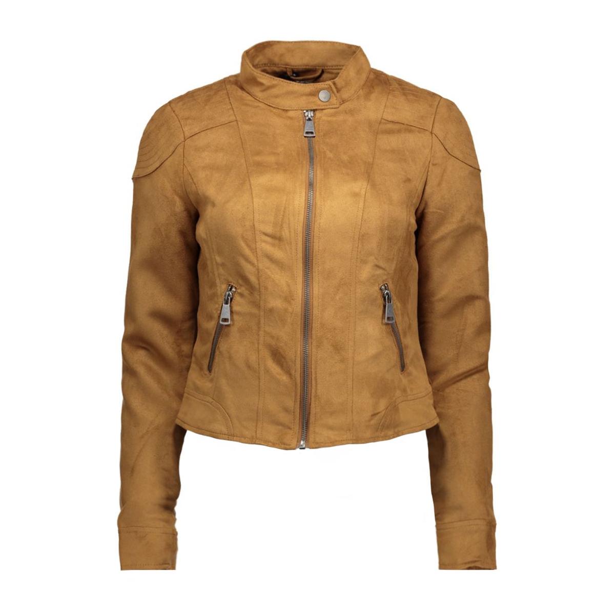vmmirra short fake suede jacket a 10162036 vero moda jas cognac