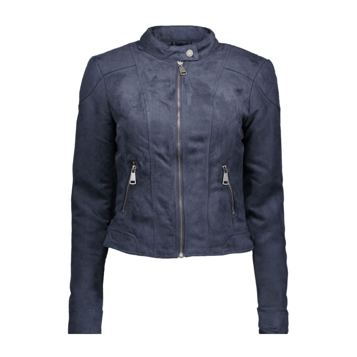vmmirra short fake suede jacket a 10162036 vero moda jas navy blazer