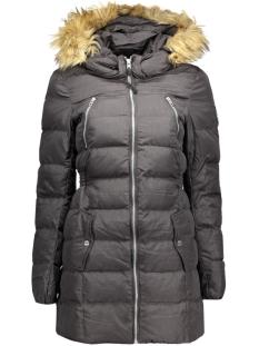 onlnew lime nylon coat otw 15117869 only jas black/melange