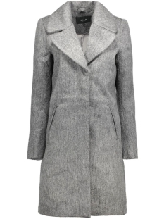vinuka coat 14035605 vila jas medium grey melange
