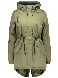 nmthule l/s padded jacket 10156407 noisy may jas ivy green