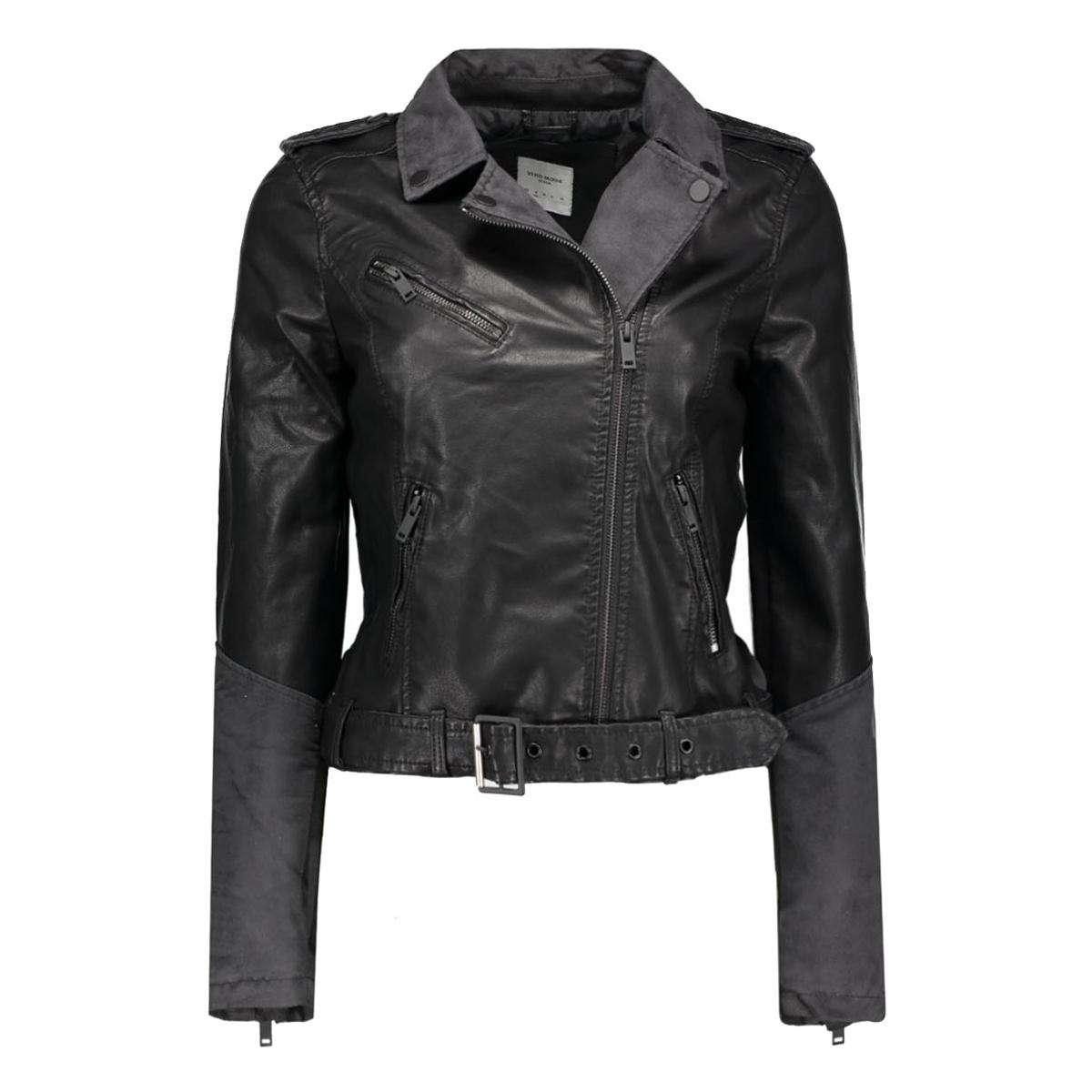 vmdallon short pu jacket dnm 10163582 vero moda jas black