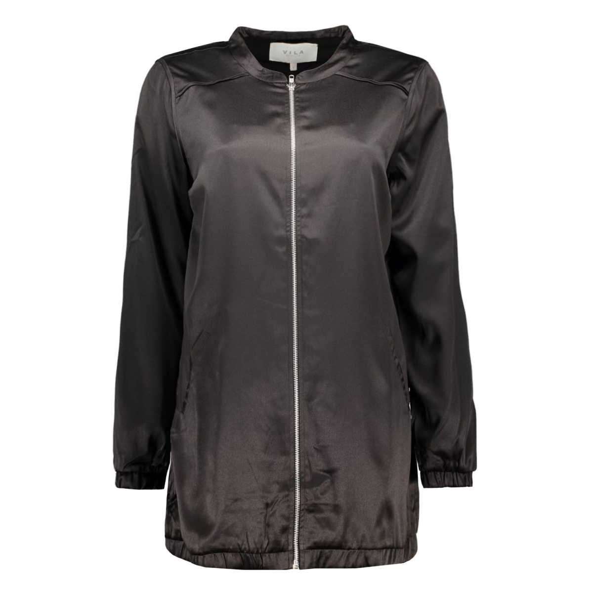 vicentri long bomber jacket 14039045 vila jas black