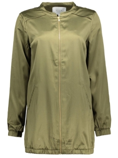 vicentri long bomber jacket 14039045 vila jas ivy green