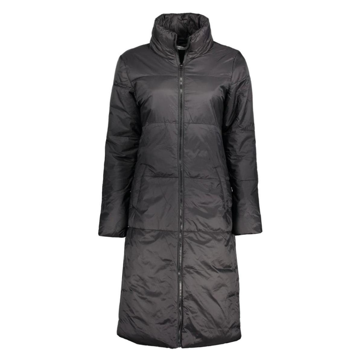 jdymeg quilted long coat otw 15122323 jacqueline de yong jas black
