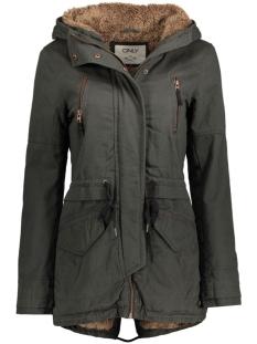 onlleeona canvas parka jacket cc ot 15119110 only jas jet set