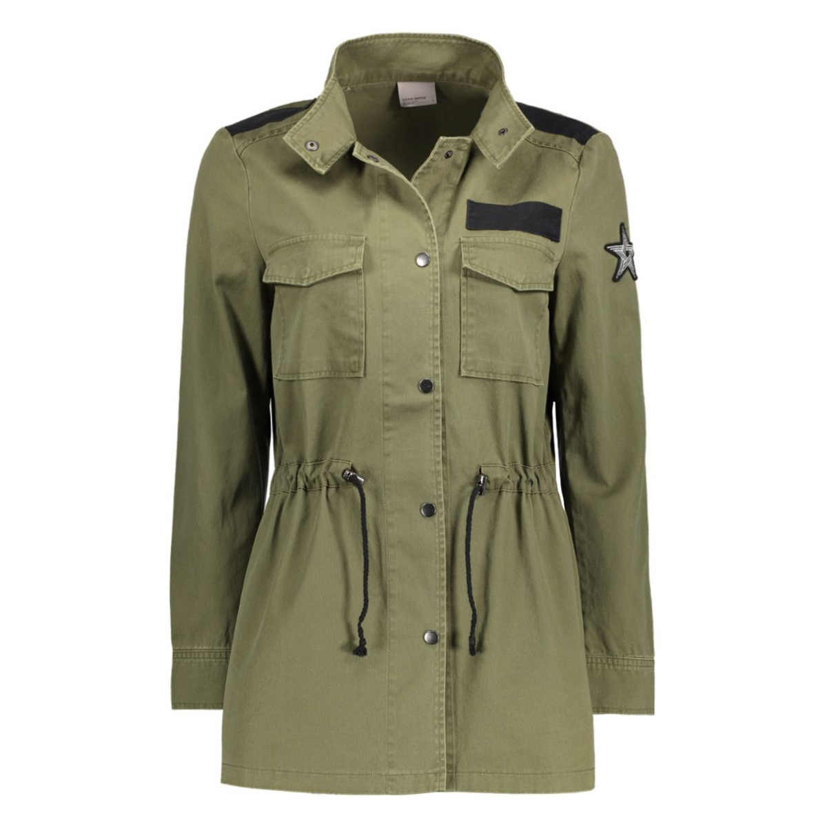 vmclara army l/s jacket nfs 10177127 vero moda jas ivy green