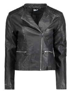 Jacqueline de Yong Jas JDYANIKA FAUX LEATHER BIKER JACKET 15124586 Black