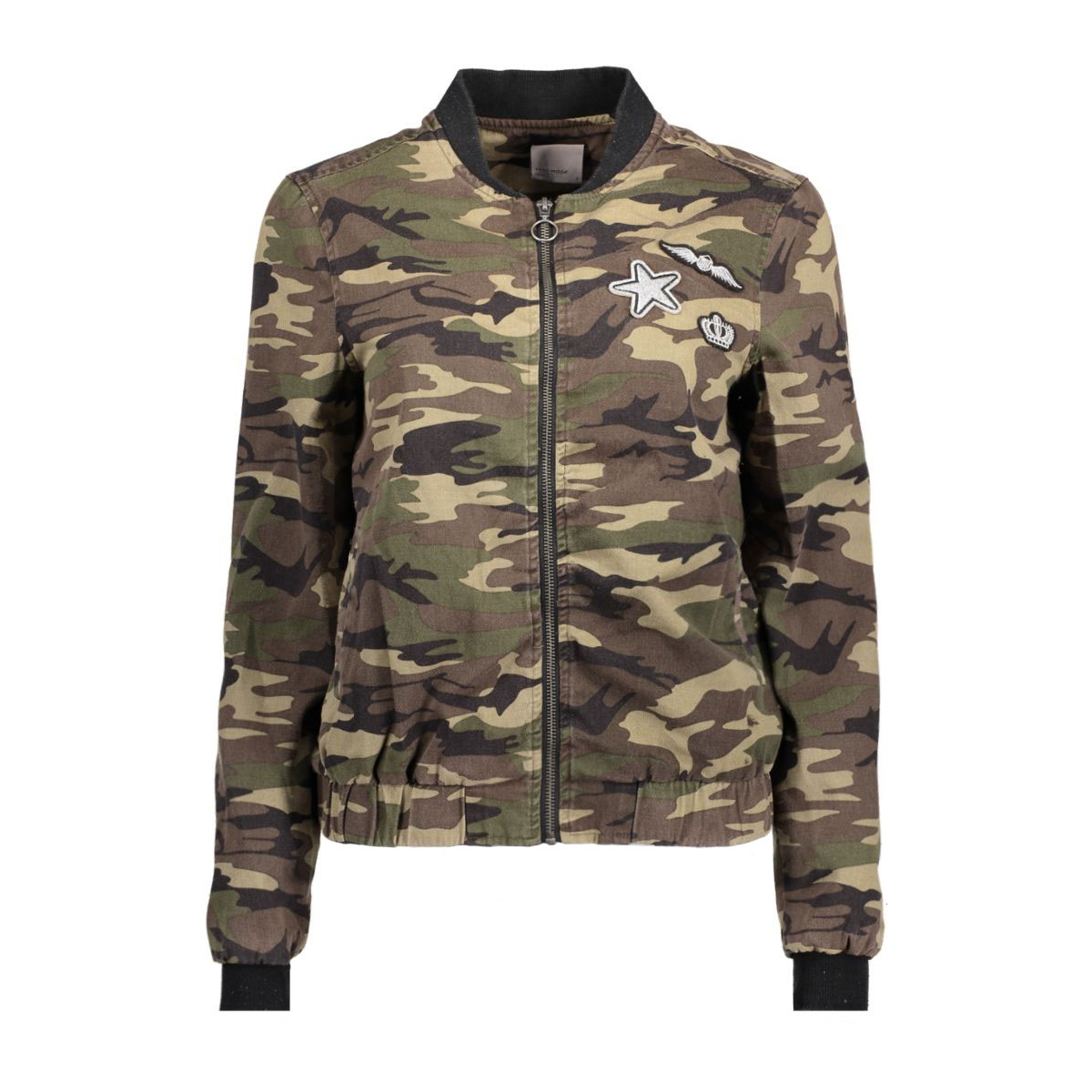 vmcamouge l/s patch bomber nfs 10177126 vero moda jas ivy green