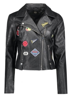 Only Jas onlROXIE FAUX LEATHER BADGE BIKER 15133993 Black