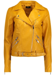 Only Jas onlSISSE FAUX LEATHER BIKER OTW 15129922 Yolk Yellow