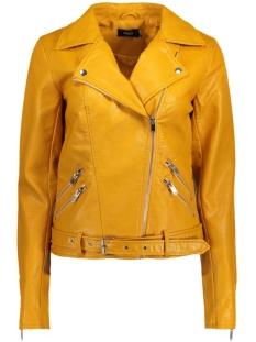 Only Jas onlSISSE FAUX LEATHER BIKER OTW 15129922 Yolk Yellow