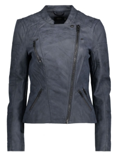 onlAVA FAUX LEATHER BIKER OTW NOOS 15102997 Dark Navy