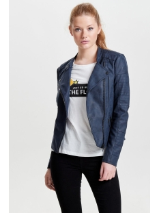 onlava faux leather biker otw noos 15102997 only jas dark navy