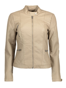 onlWILMA FAUX LEATHER JACKET CC OTW 15127013 Desert Taupe