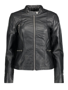 Only Jas onlWILMA FAUX LEATHER JACKET CC OTW Black