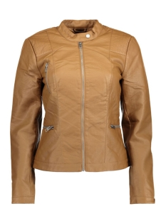 Only Jas onlWILMA FAUX LEATHER JACKET CC OTW 15127013 Cognac