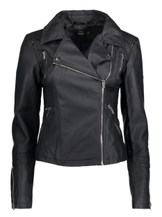 Only Jas onlSHEENA FAUX LEATHER BIKER OTW NO 15130813 Black