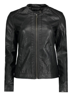 Jacqueline de Yong Jas JDYLESLEY FAUX LEATHER BIKER JACKET 15127869 Black