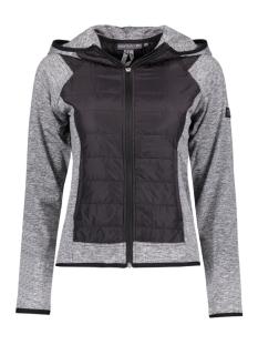 Only Play Sport vest onpDONNI HOOD ZIP JACKET 15126672 Black/Grey Melan