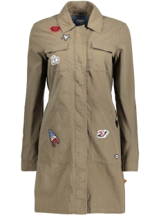 onlLENA UTILITY BAGDE LONG JACKET O 15129743 Kalamata/Badges