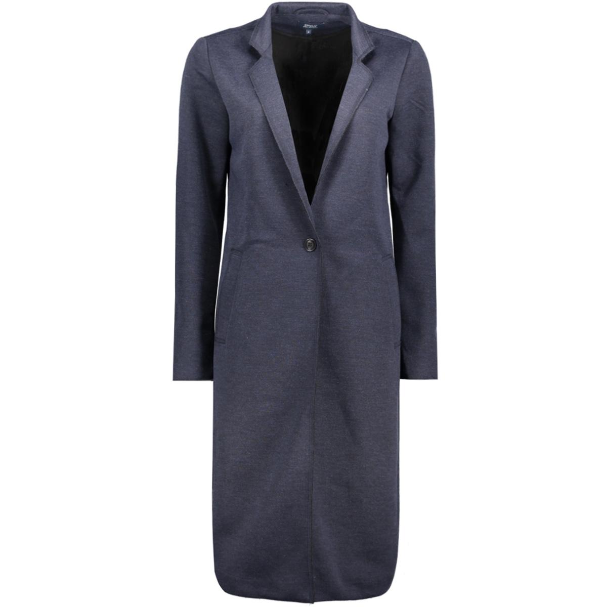 onlsue long bonded coat otw 15129745 only blazer mood indigo