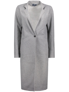 onlSUE LONG BONDED COAT OTW 15129745 Light Grey Melange