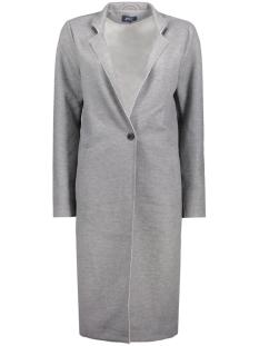 onlsue long bonded coat otw 15129745 only blazer light grey melange