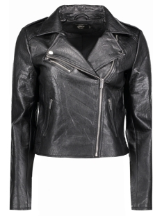 Only Jas onlLOU EMB. CROP FAUX LEATHER BIKER 15138910 Black