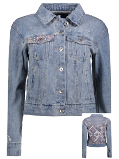 onlCHRIS LS BLANKET DNM JACKET BJ87 15134245 Medium Blue Denim