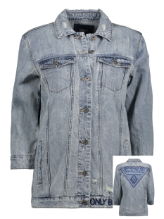 Only Jas onlEVA 3/4  EMB DNM JACKET BJ 15136911 Light Blue Denim