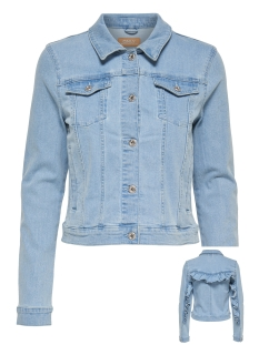 Only Jas onlFLAIR LS FRILL DNM JACKET AKM 15142958 Light Blue Denim