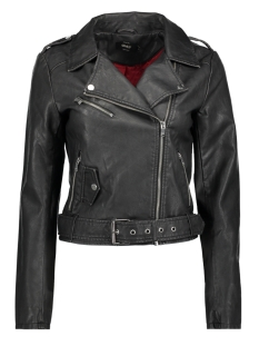 Only Jas onlLUNA CROP FAUX LEATHER BIKER OTW 15141020 Black/Washed