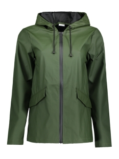 Jacqueline de Yong Jas JDYSUS RAINCOAT OTW 15141590 Rifle Green/Black stripe