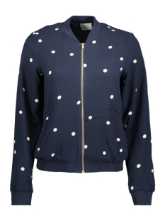 VMBIG DOT L/S BOMBER JACKET 10181277 Navy Blazer/Big Dot NA