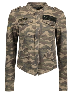 Only Jas onlAUSTIN CAMOUFLAGE BADGE JACKET P 15142801 Grape Leaf