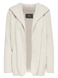 Only Jas onlCONTACT ME HOODED SHERPA COAT OT 15139933 Pumice Stone