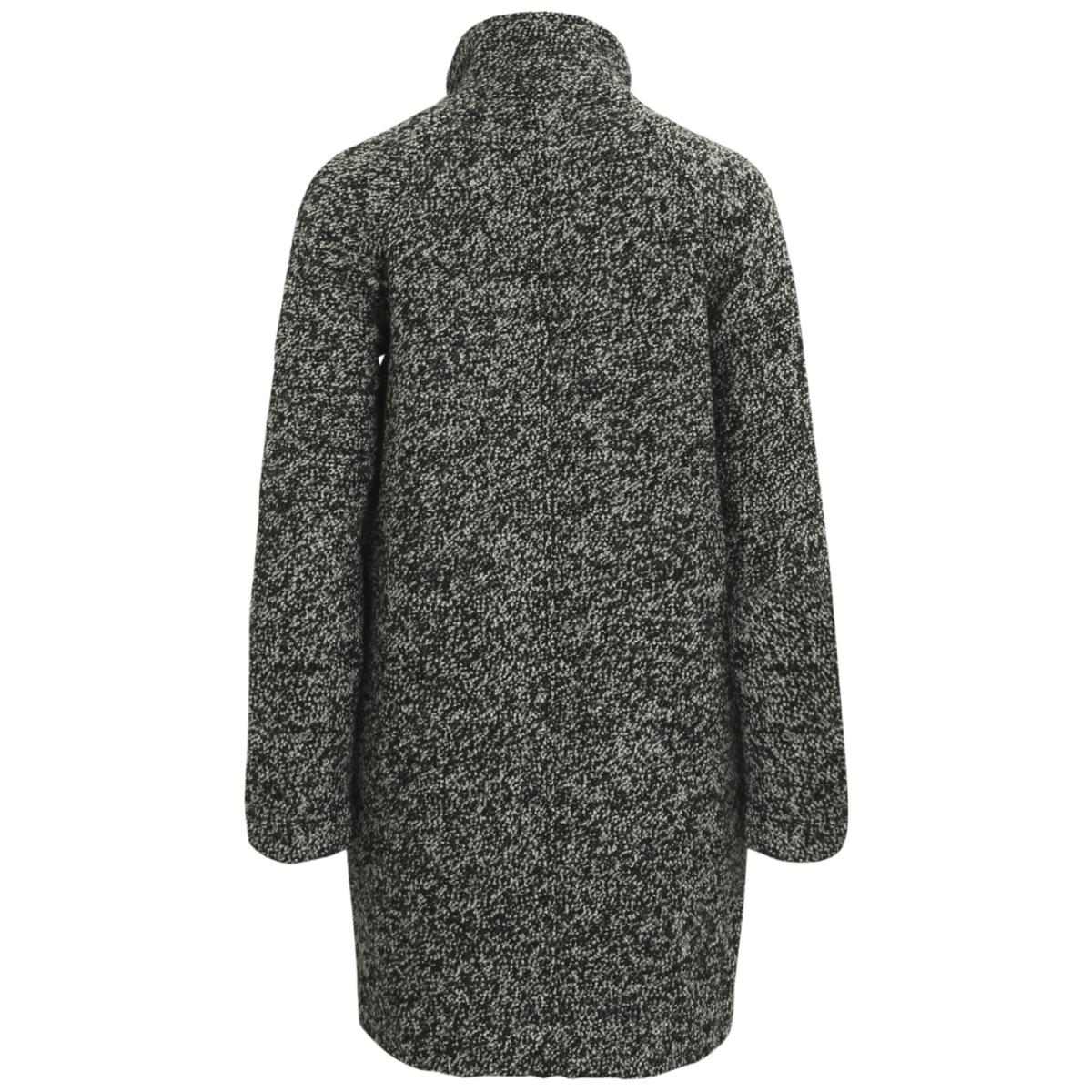 objnoria coat 92 23024965 object jas black/ salt & pepper