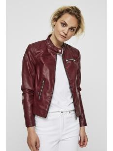 vmchanine short pu jacket boos 10179244 vero moda jas zinfandel