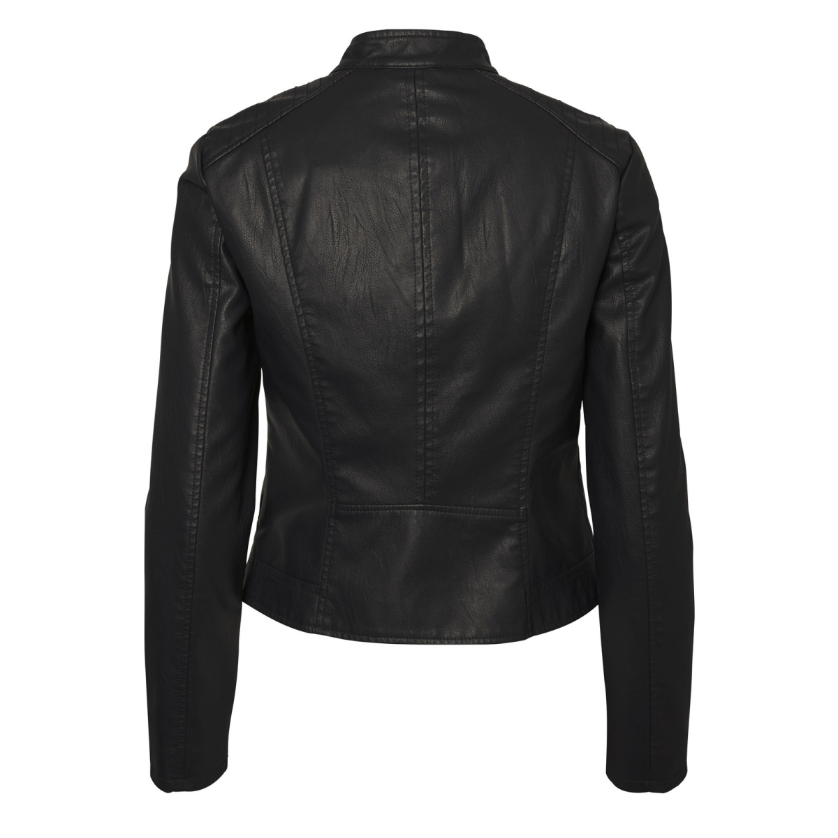 vmchanine short pu jacket boos 10179244 vero moda jas black beauty