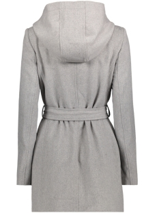 vmelena rich 3/4 wool jacket boos 10179260 vero moda jas light grey melange